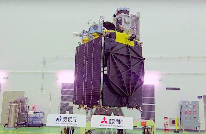 The Himawari 9 satellite pictured before launch. Credit: JAXA/JMA/MELCO