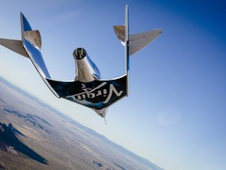 Virgin Galactic's second SpaceShipTwo rocket plane, christened VSS Unity, glided to a runway landing after dropping from its carrier aircraft over California's Mojave Desert on Saturday. Credit: Virgin Galactic