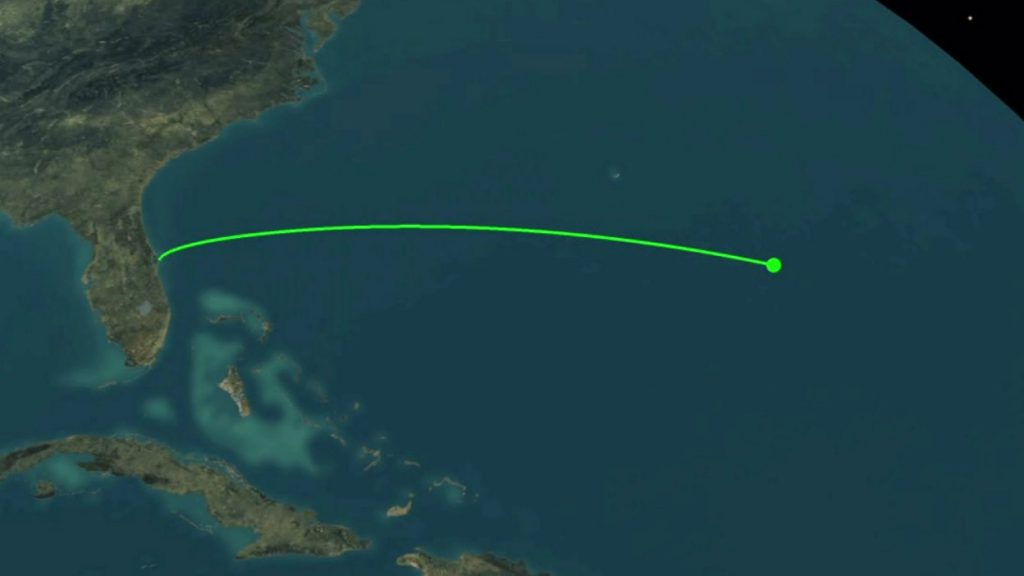 The vehicle will head east from Cape Canaveral to geosynchronous orbit. Credit: United Launch Alliance