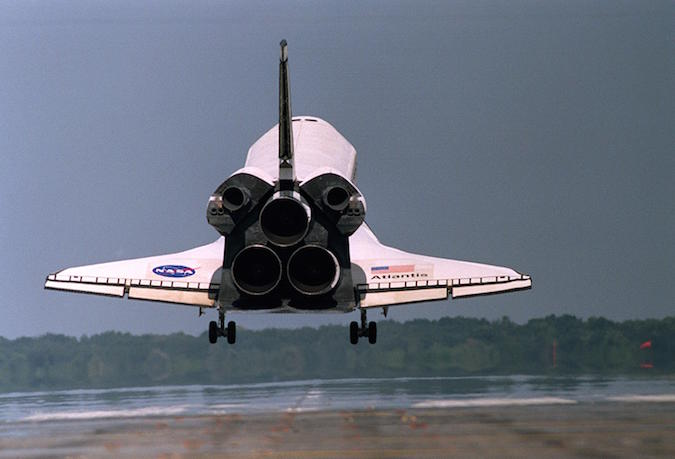 Shuttle engine delivered to Orion service module assembly ...