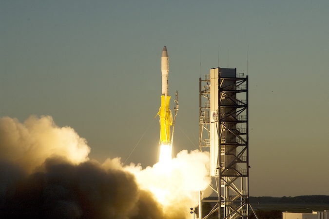 file photo of a minotaur 1 launch from wallops island virginia credit nasa wallops flight facility