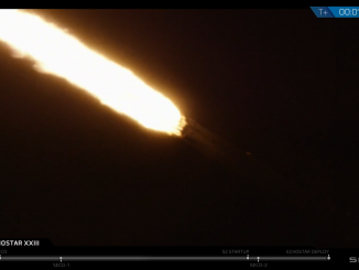 Up and down with a Falcon 9 booster