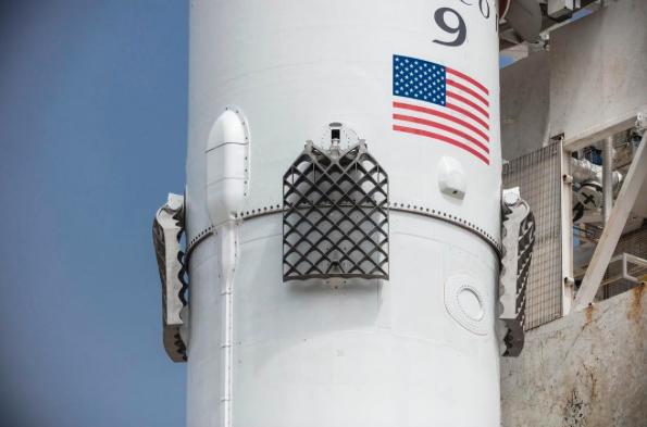up close view of the new titanium grid fins credit spacex the falcon 9