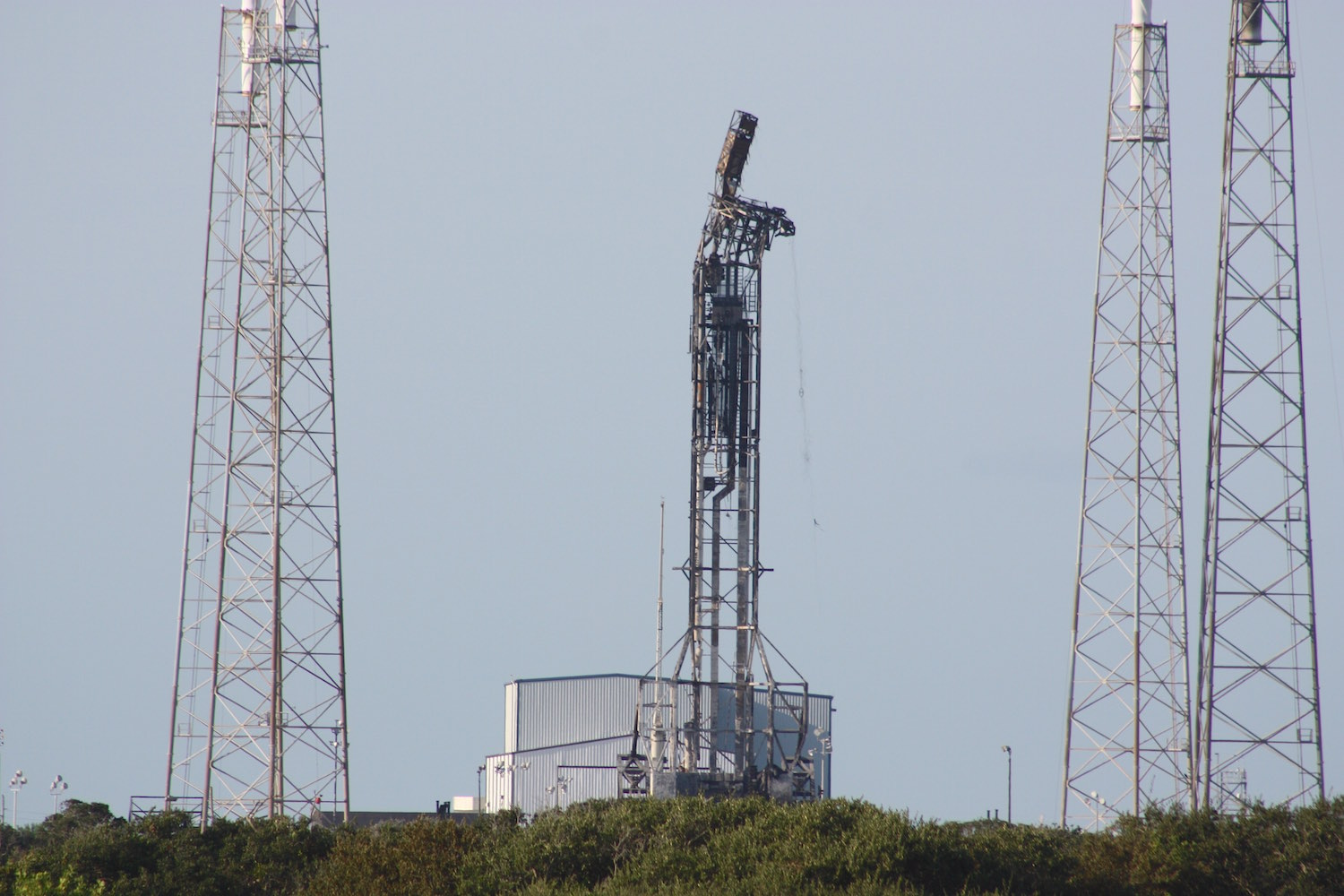 SpaceX aims to restore damaged launch pad to service by end