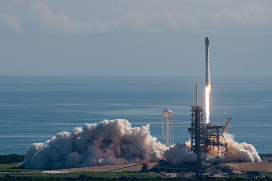 Photos: Falcon 9 rocket lifts off and lands at Cape ...