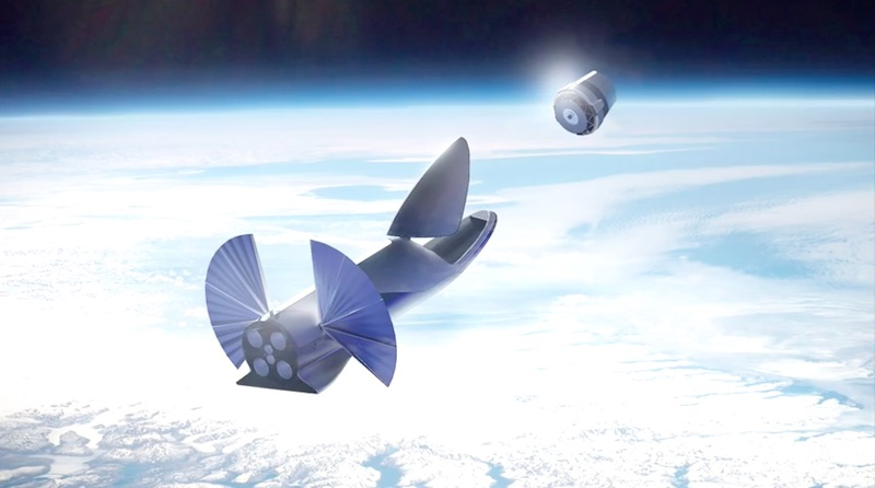 Artists Concept Of The BFR Spaceship Deploying A Satellite In Orbit Credit SpaceX