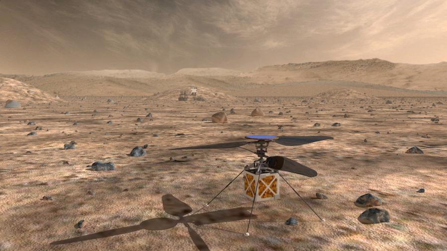 Helikoptéra, která má brázdit nebesa Marsu, byla připevněna k roveru Mars 2020