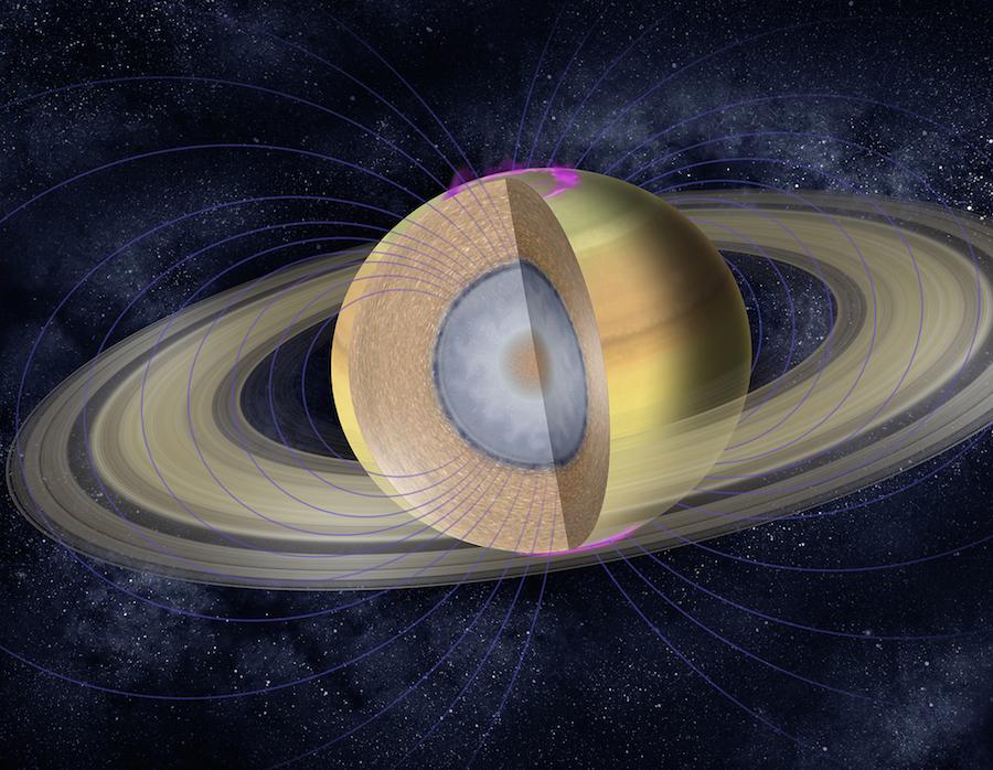 Saturns clouds run deep rings may rain organics spaceflight now artists illustration of saturns internal structure credit nasajpl caltech thecheapjerseys Images