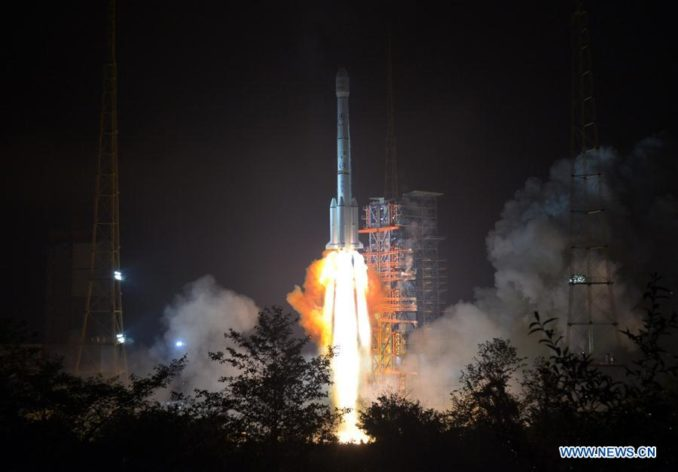 Communications satellite launched from China to connect Asia