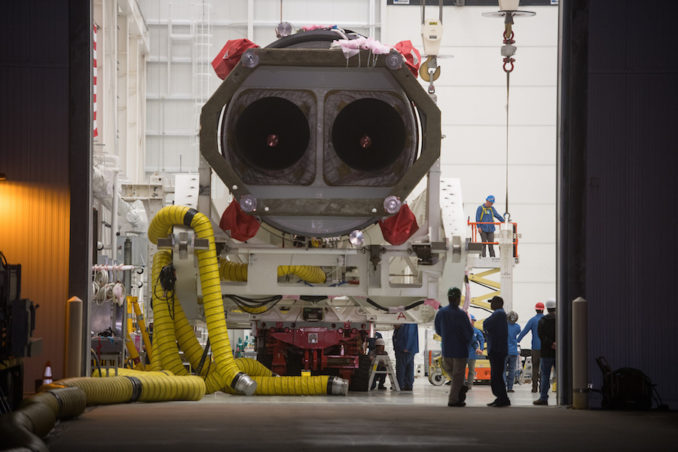 Antares rocket rolls to Virginia launch pad, liftoff ...