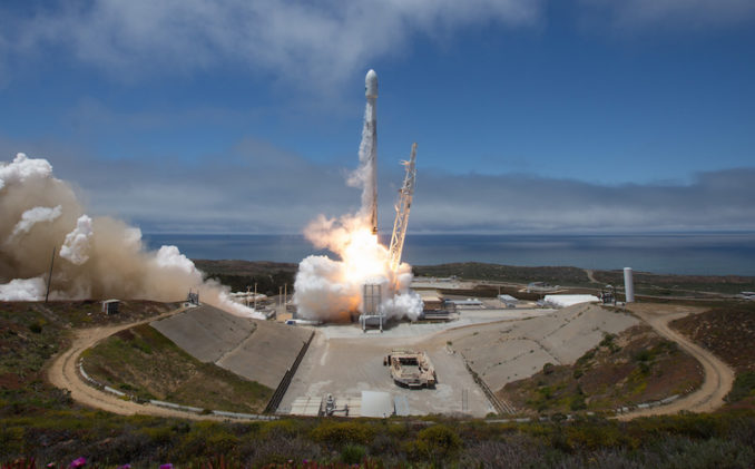 Rideshare launch by SpaceX serves commercial and scientific customers