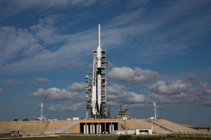 Photos: Falcon 9 Block 5 poised for launch at Kennedy Space Center