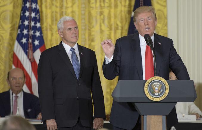 "Trump calls for establishment of U.S. ""space force"""