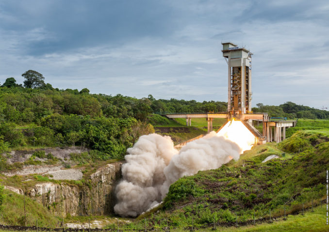 Powerful new European solid-fueled rocket motor aces first test-firing