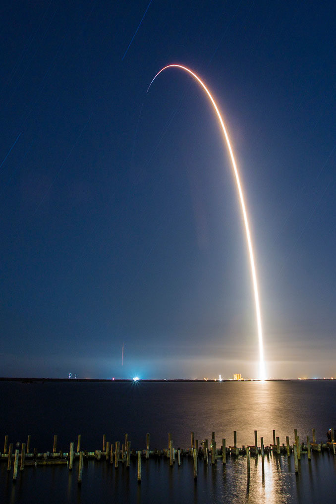 Photos: Previously-flown Falcon 9 rocket blasts off with ...