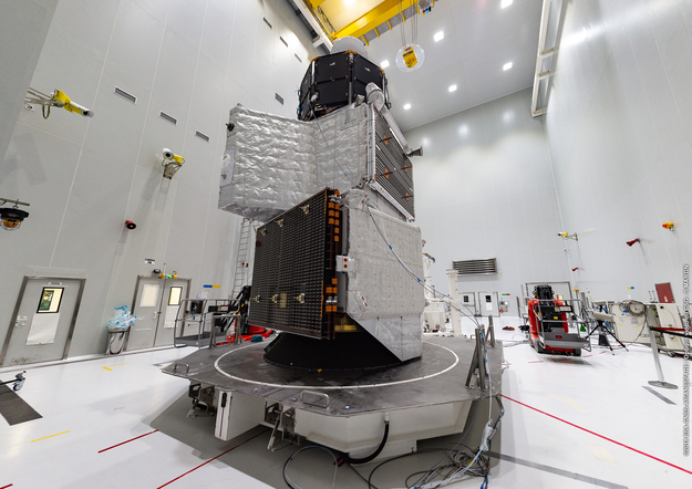 Photos: BepiColombo stacked for launch to Mercury