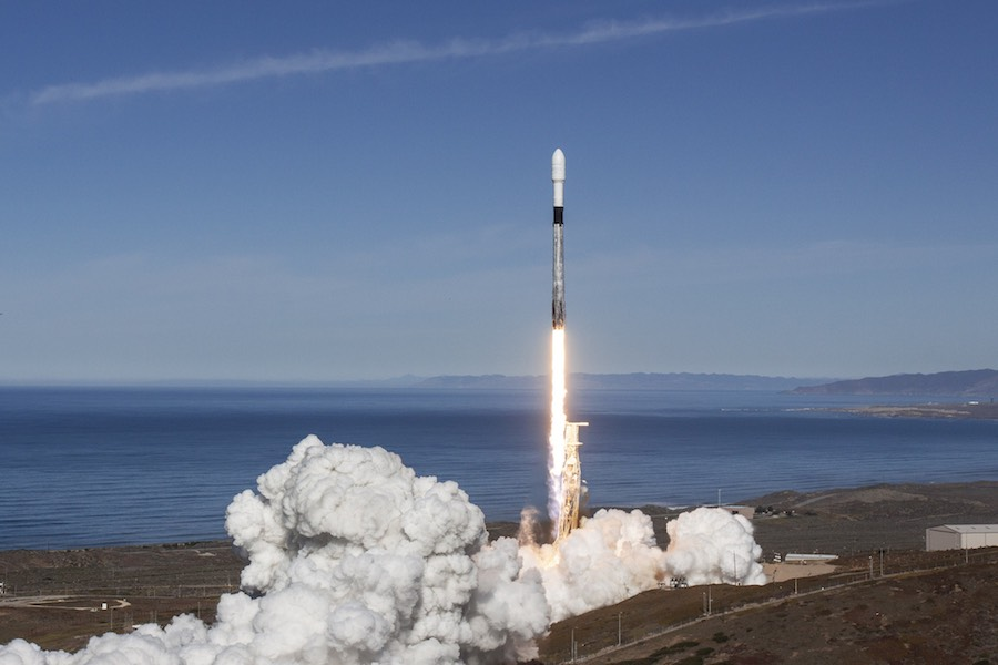 SpaceX Launches Swarm Of Satellites Flies Rocket For Third Time