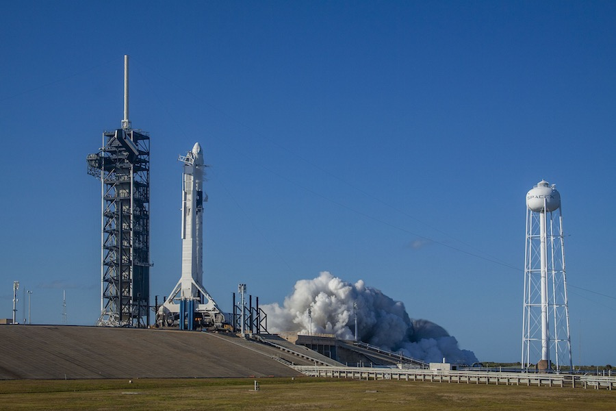 First unpiloted test flight of SpaceX Crew Dragon capsule ...