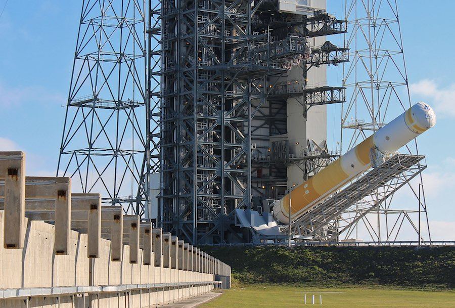 Military Satellite Joined With Delta 4 Rocket At Cape Canaveral