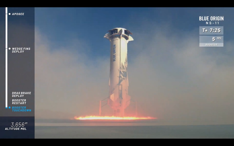 Blue Origin 'one step closer' to human flights after
