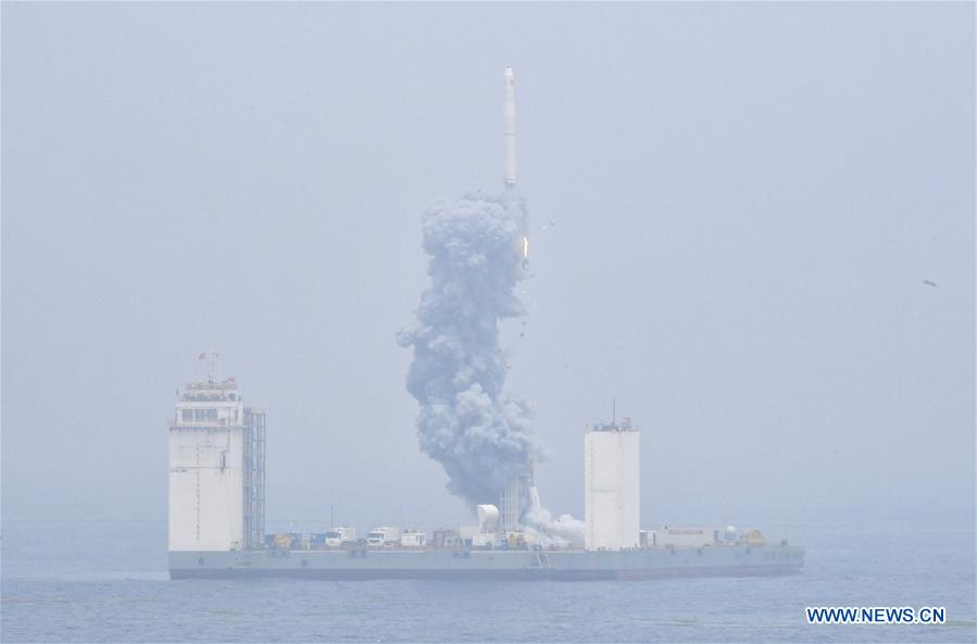 China's first sea launch declared a success