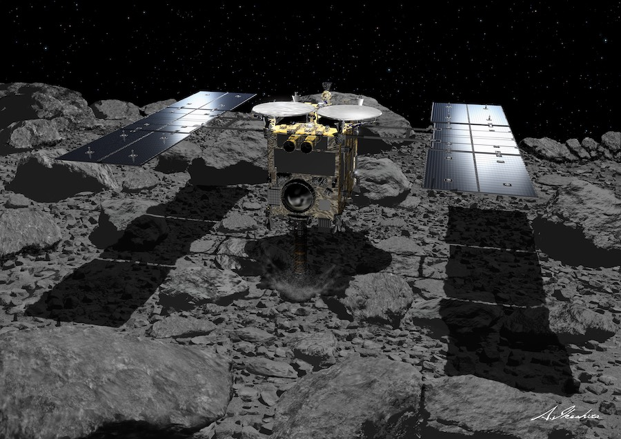 hayabusa2_2ndsample Japanese spacecraft snags second pattern from asteroid – Astronomy Now