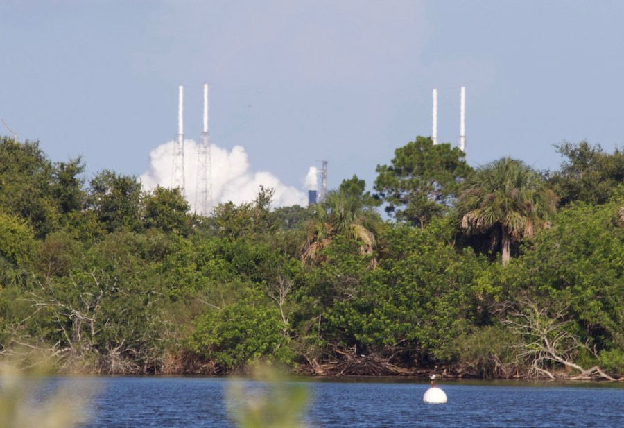 Falcon 9 rocket test-fired ahead of station cargo launch