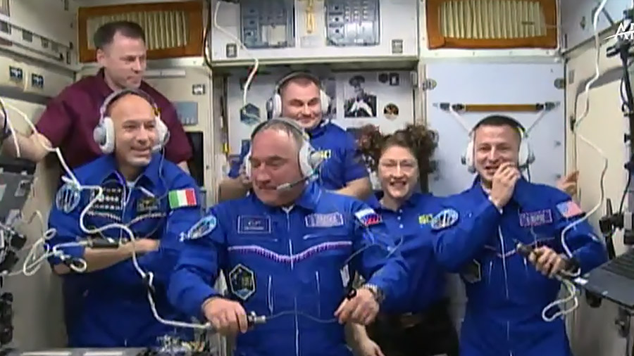 Soyuz crew docks with space station; Pence reaffirms commitment to moon missions