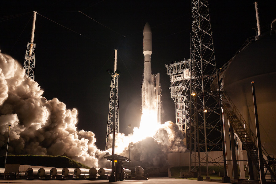 Atlas 5 launch adds to U S  military's secure communications