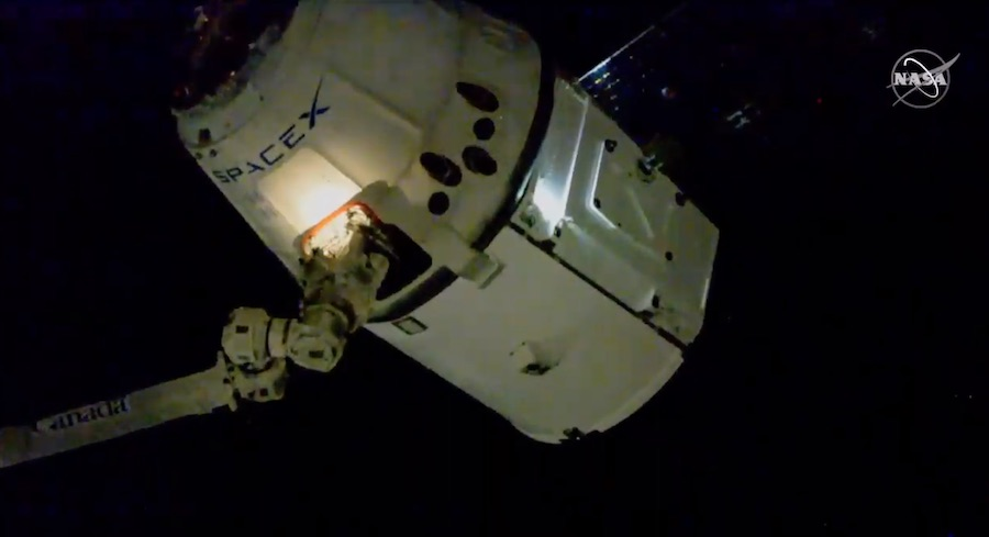 SpaceX resupply mission reaches International Space Station