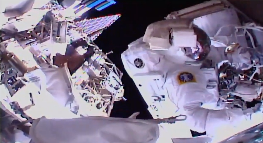 Astronauts finish repairs to space station cosmic ray detector