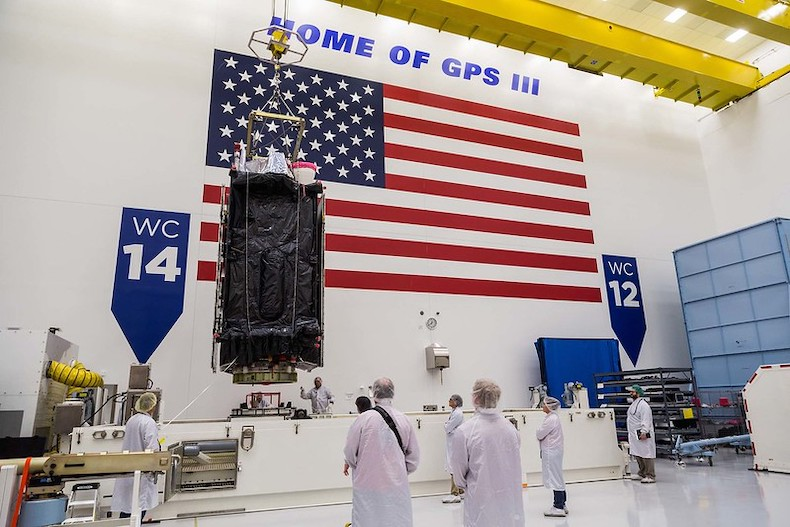 Next GPS satellite lands in Florida for April launch