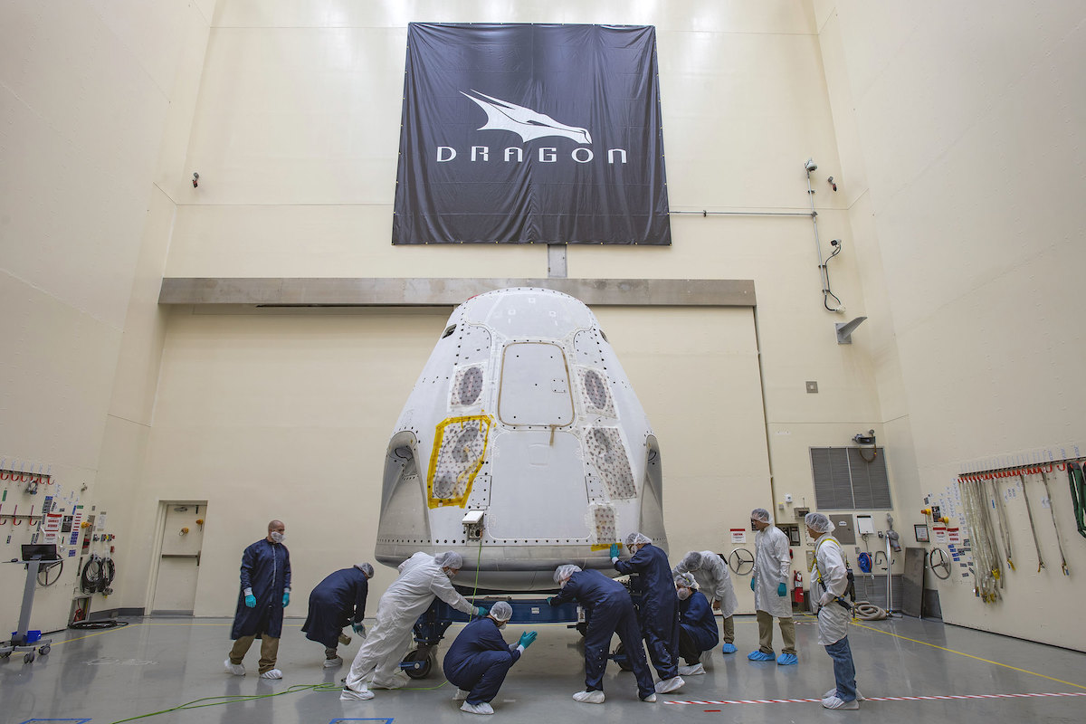SpaceX's Crew Dragon delivered to Cape Canaveral for first flight with astronauts