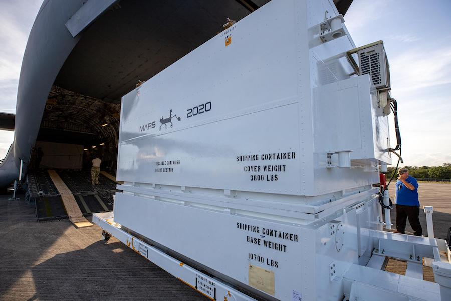 Mars 2020 rover arrives at Kennedy Space Center for July launch