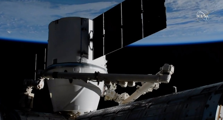 Astronauts capture SpaceX cargo capsule with robot arm for final time