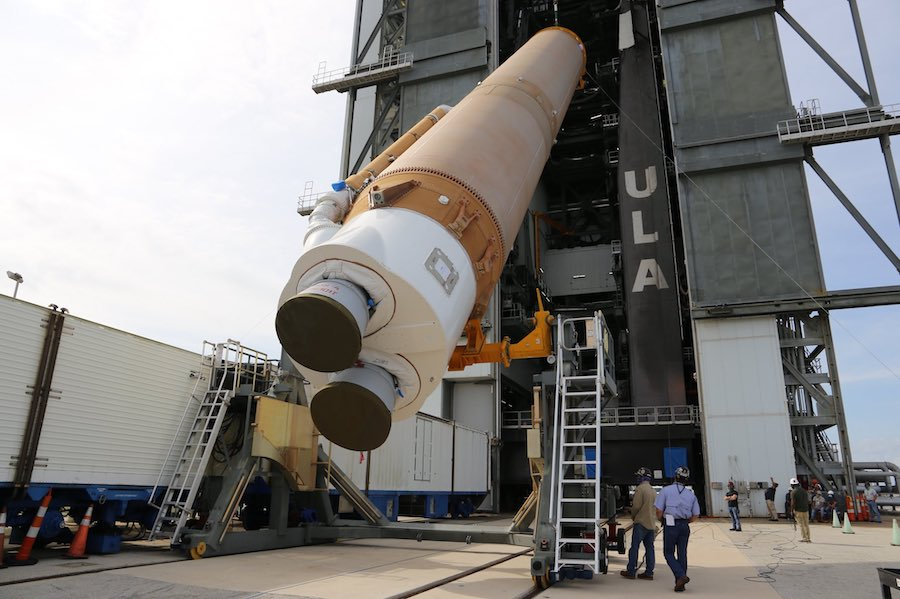 ULA begins stacking rocket for next launch of U.S. military spaceplane