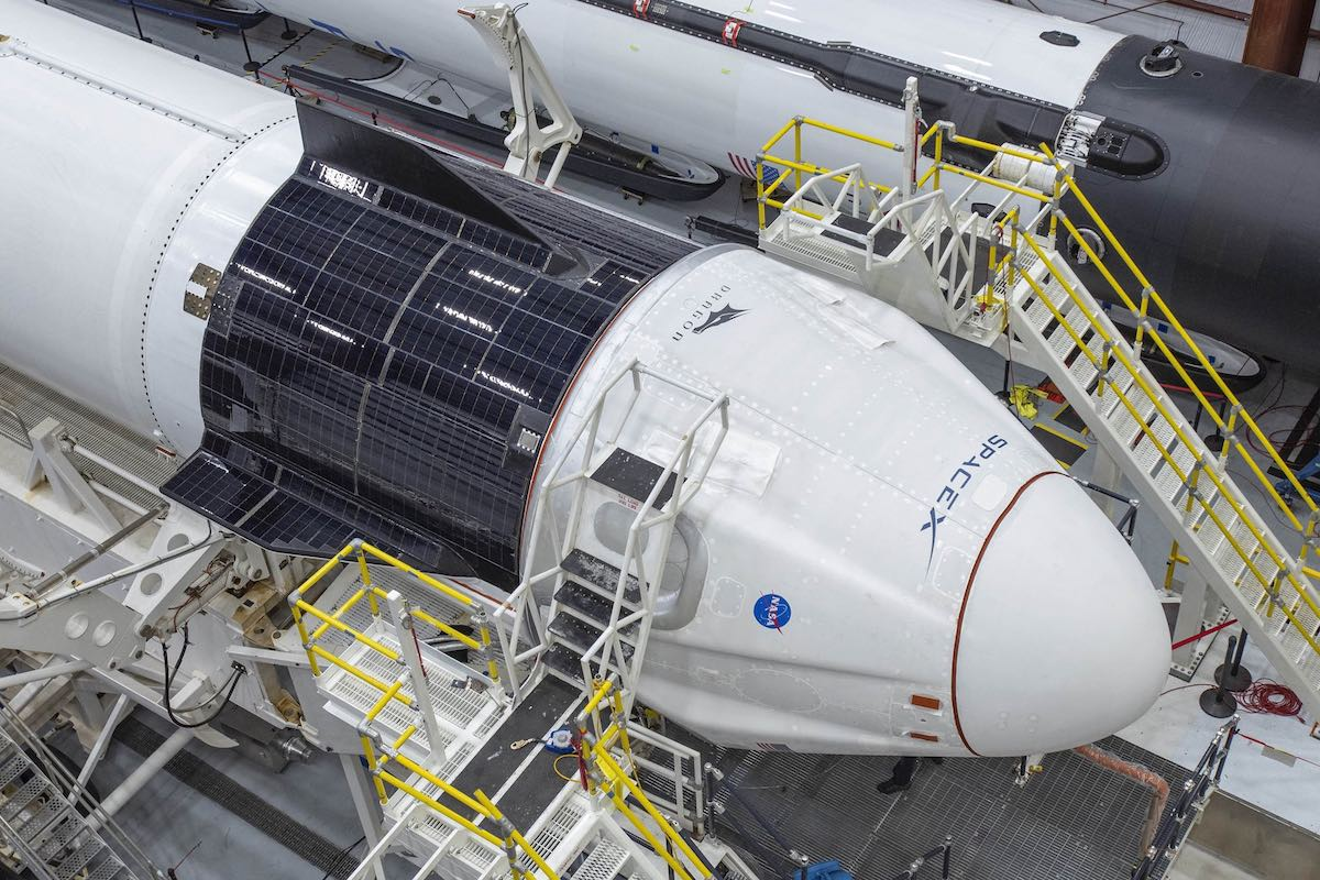 Photos: Crew Dragon mated with Falcon 9 rocket