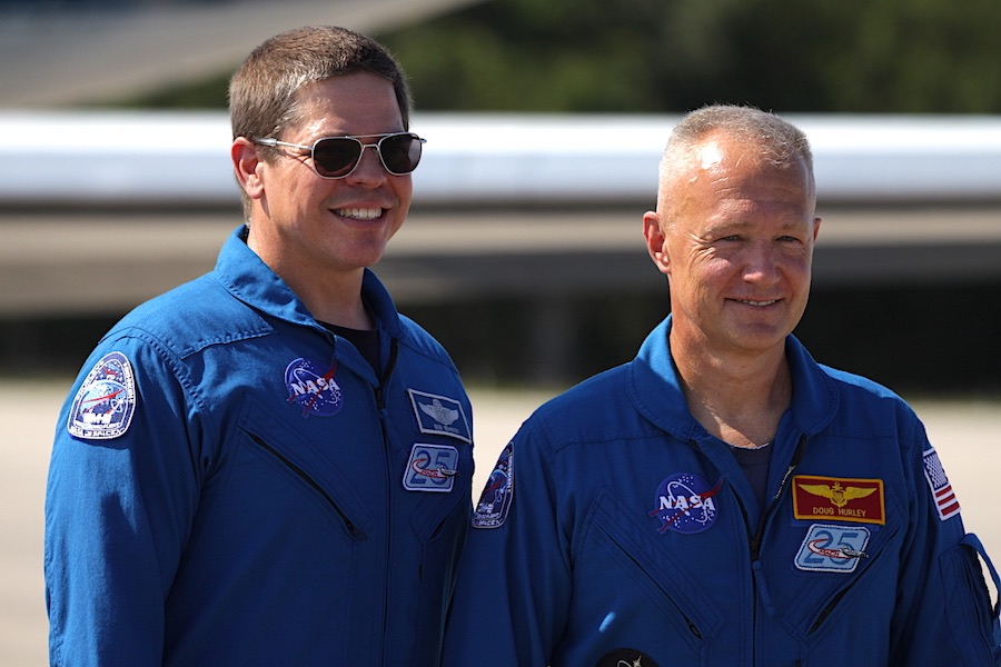 Dragon crew arrives at Florida spaceport kick off final week of launch preps