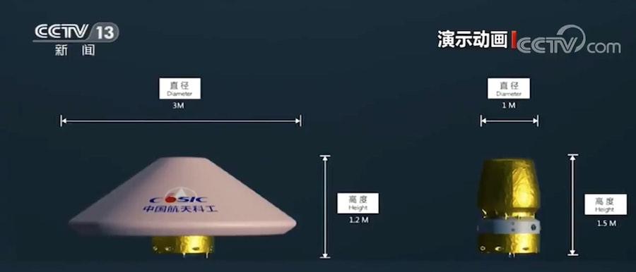Čínský experimentální návratový modul po vstupu do atmosféry selhal, vesmírná loď přistála v pořádku