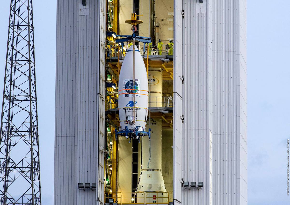 Vega launch from French Guiana delayed by typhoon on other side of the world