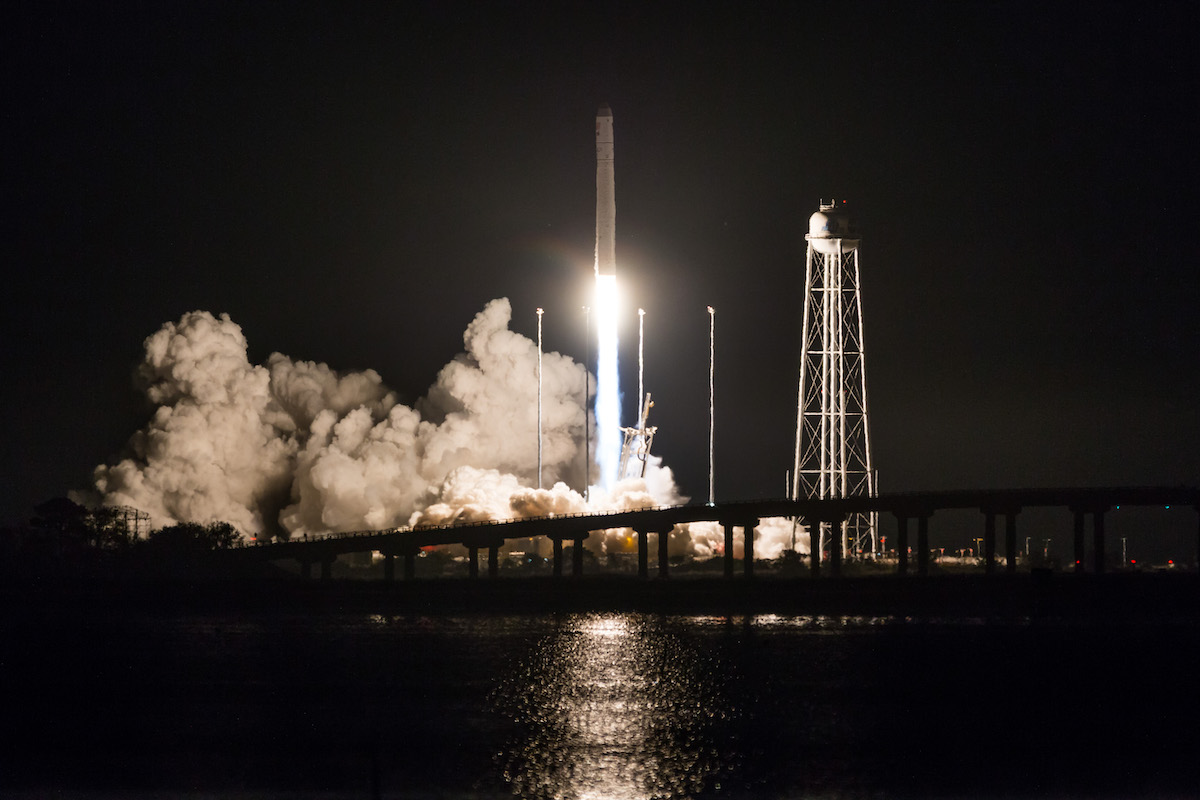 Antares rocket takes aim on space station with zero-gravity toilet, other supplies