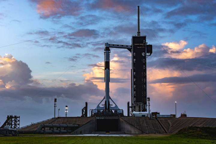 Photos: Falcon 9 rocket rolled out to pad 39A for Crew-1 launch