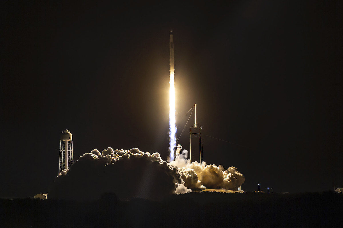 Photos: Four astronauts launch aboard SpaceX Falcon 9 rocket