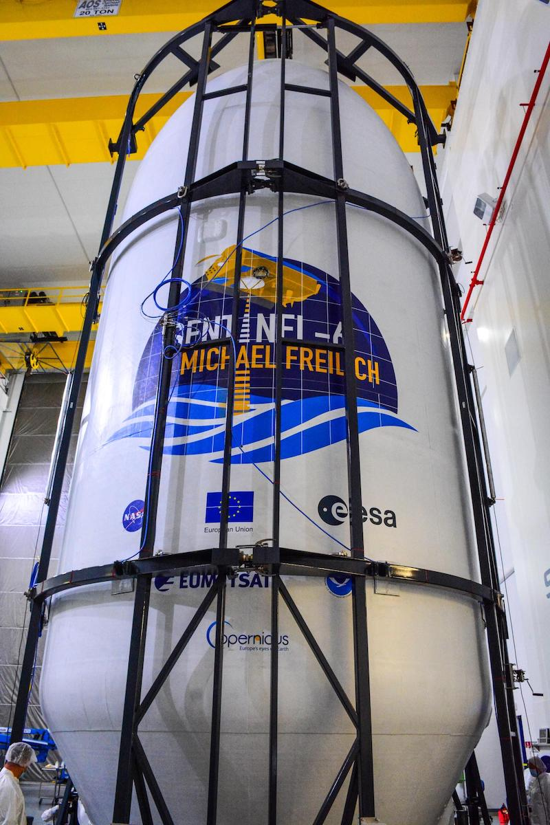 Photos: Sentinel-6 Michael Freilich encapsulated for launch