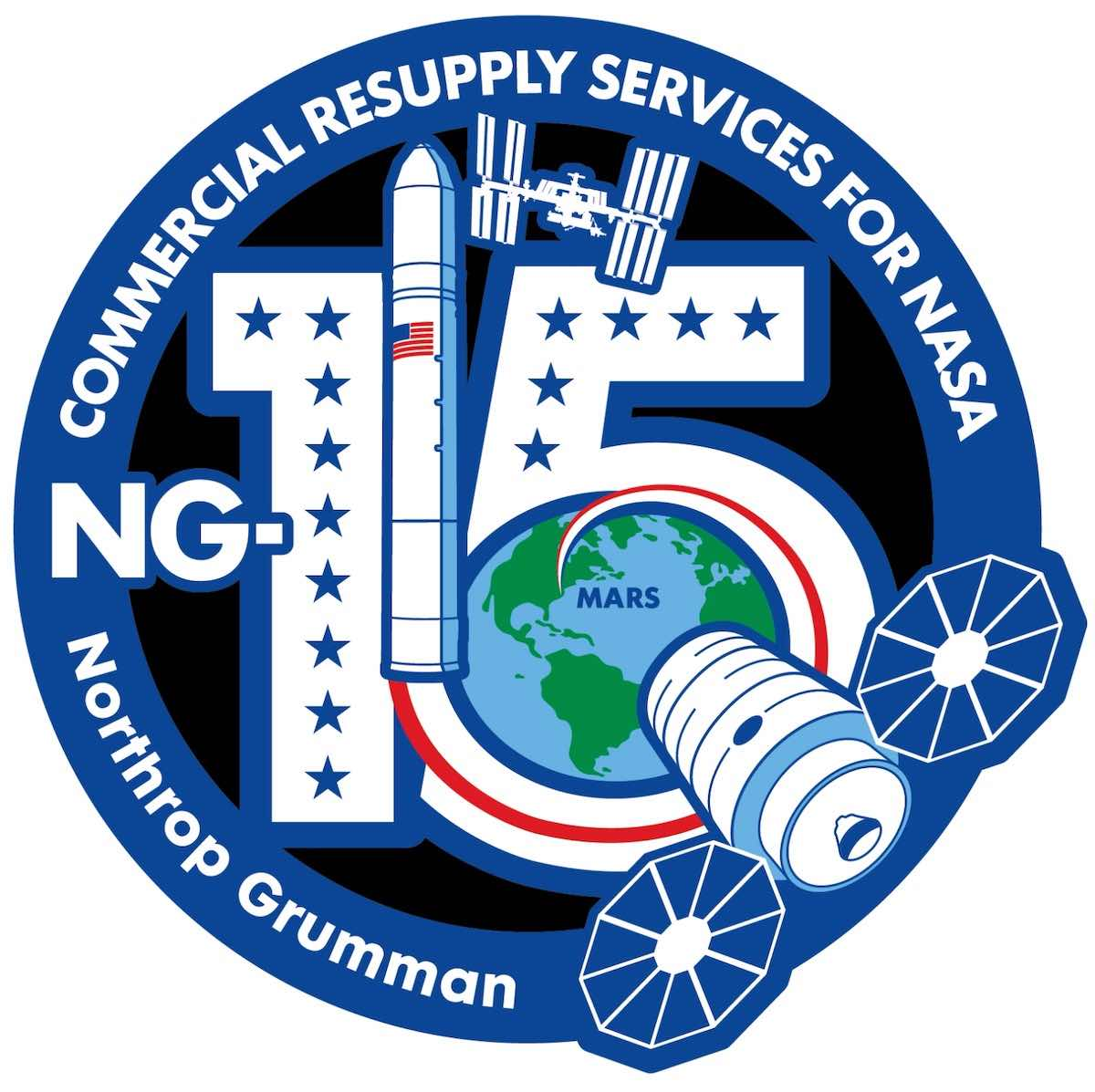 - ng15patch - Antares rocket launches heavy cargo load to International Space Station – Spaceflight Now
