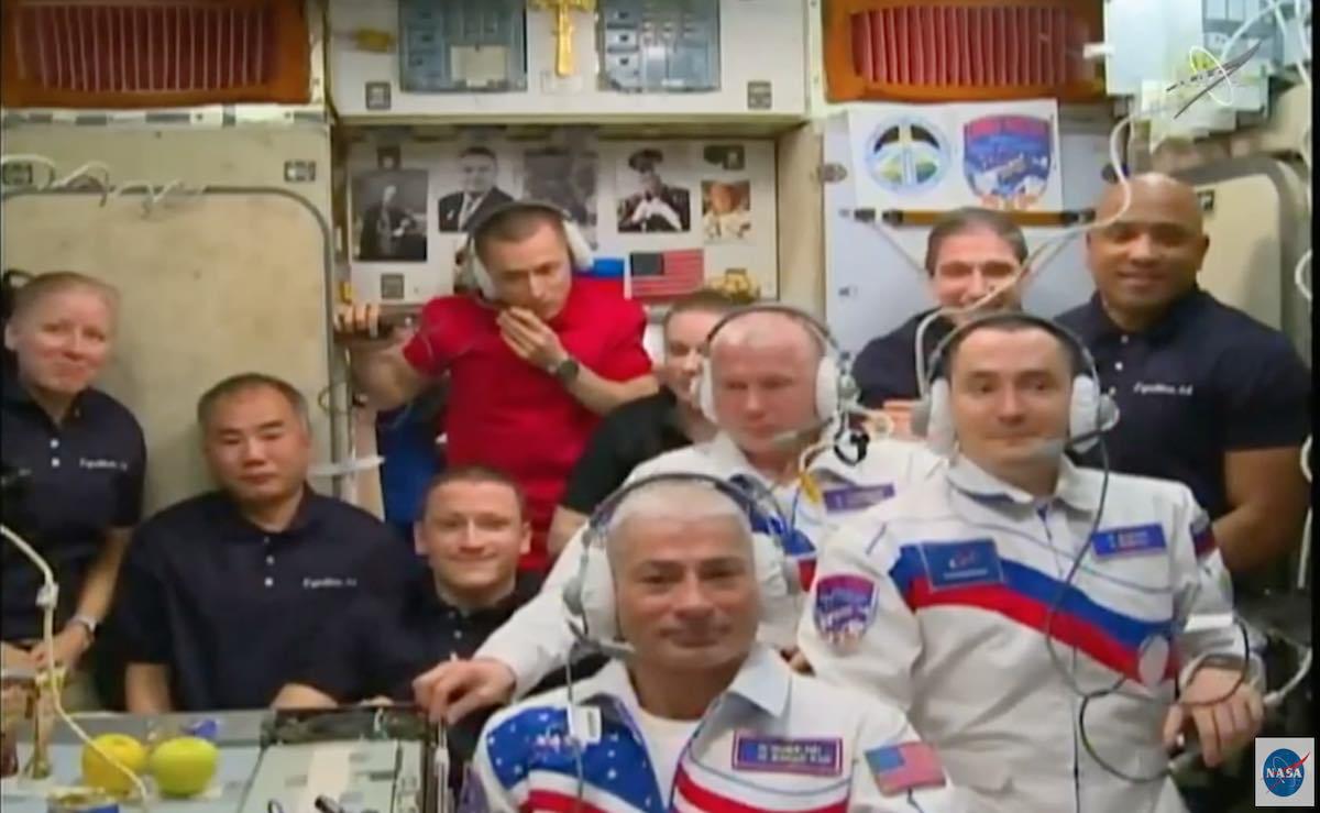 - ms18crew - Soyuz crew welcomed aboard International Space Station – Spaceflight Now