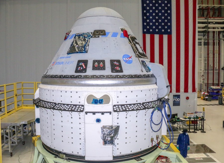 Starliner capsule fueled for unpiloted test flight to International Space Station