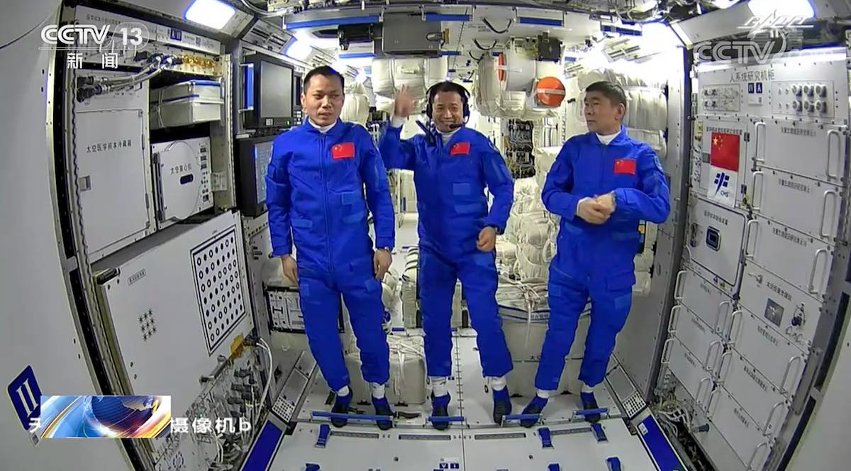 Chinese astronauts enter Tiangong space station for first time