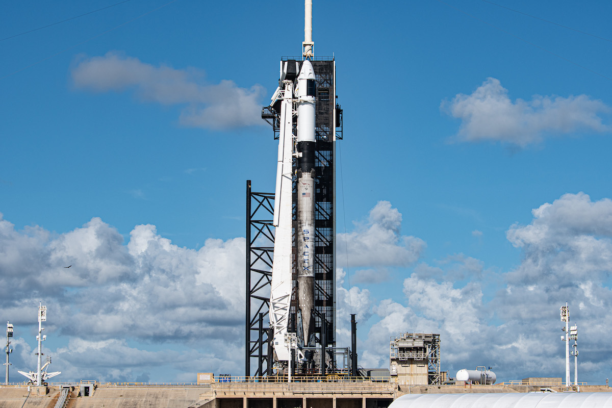 Photos: Inspiration4's rocket ready for launch on pad 39A