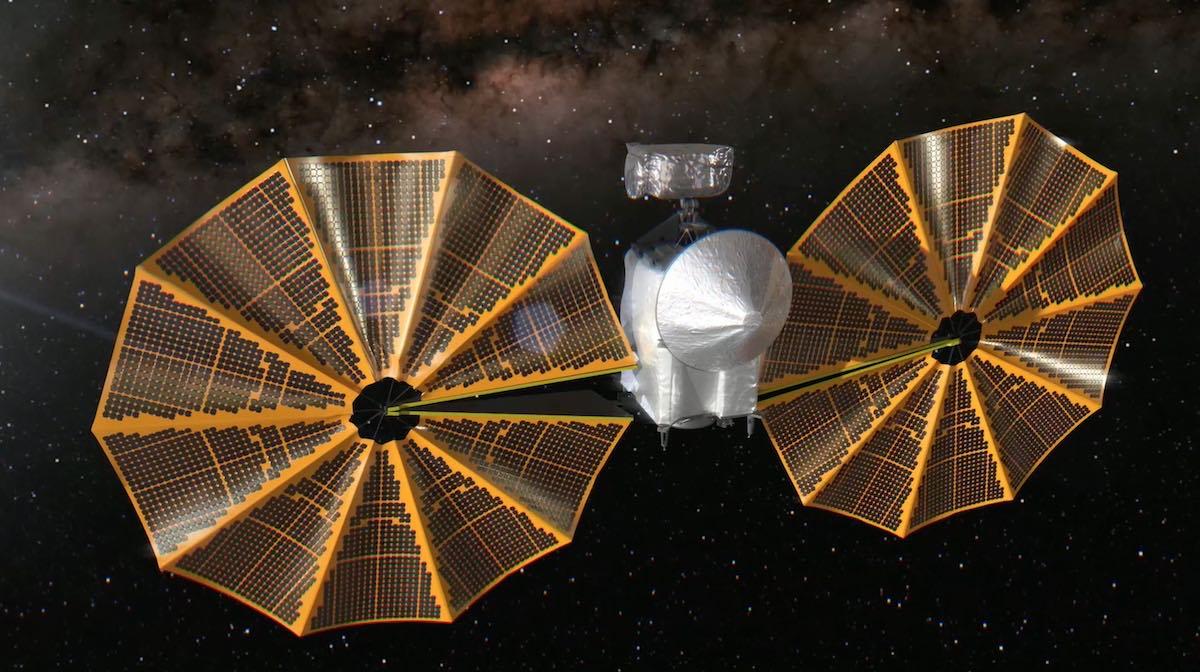 NASA pareigūnai optimistiškai nusiteikę, kad asteroido Liusės misija įveiks Saulės masyvo kliūtį – kosminis skrydis dabar